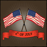 4th of July Happy Independence Day America background. In vector royalty free illustration