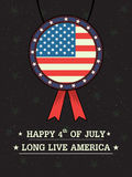 4th of July Happy Independence Day America background. In vector Stock Photography
