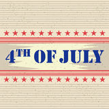 4th of July Happy Independence Day America background. In vector Stock Images