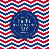 4th of july happy independence day america. Vector Royalty Free Stock Photos