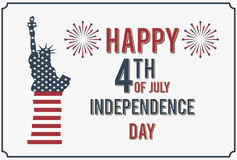 4th of July. Happy Independence Day of America Vector Illustration. Stock Image
