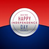 4th july happy independence day background. Vector Royalty Free Stock Image