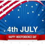 4th of July, Happy Independence Day - Vector Illustration. 4th July, Happy Independence Day Banner, on Flag of United state of America, fourth of july Royalty Free Stock Photos
