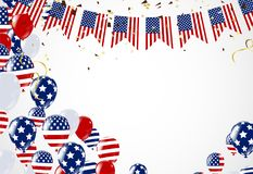 4th of July, Happy Independence Day Banner Vector illustration,U. Happy 4th of July holiday banner. USA Independence Day Background Royalty Free Stock Photos