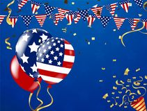 4th of July, Happy Independence Day Banner Vector illustration,U. Happy 4th of July holiday banner. USA Independence Day Background Royalty Free Stock Photo