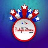 4th of July, Happy Independence Day celebration concept with sta. Rs on grungy blue and purple background Royalty Free Stock Image