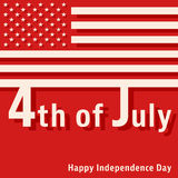 4th of July - Happy Independence Day Royalty Free Stock Photography