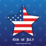 4th July. Happy Independence day greeting card. Vector.  Stock Images