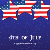 4th July. Happy Independence day greeting card. Vector.  Royalty Free Stock Photography