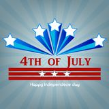 4th July. Happy Independence day greeting card. Vector.  Royalty Free Stock Images