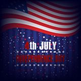 4th of July. Happy Independence Day greeting card. Vector.  Royalty Free Stock Images