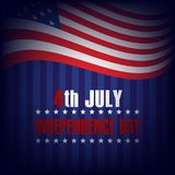 4th of July. Happy Independence Day greeting card. Vector.  Stock Images