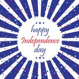 4th of July. Happy Independence Day greeting card. Vector. 4th of July. Happy Independence Day greeting card. Vector Stock Images