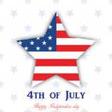 4th July. Happy Independence day greeting card. Vector.  Royalty Free Stock Photos