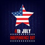 4th of July. Happy Independence Day greeting card. Vector.  Royalty Free Stock Photo