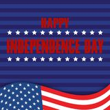 4th of July. Happy Independence Day greeting card. Vector.  Royalty Free Stock Image