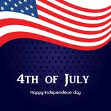 4th of July. Happy Independence Day greeting card. Vector. 4th of July. Happy Independence Day greeting card. Vector Royalty Free Stock Images