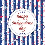 4th of July. Happy Independence Day greeting card. Vector. 4th of July. Happy Independence Day greeting card. Vector stock illustration