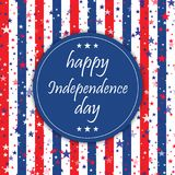 4th of July. Happy Independence Day greeting card. Vector. 4th of July. Happy Independence Day greeting card. Vector Stock Image