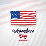 4th july Happy Independence day United State America. Celebrating independent royalty free illustration