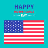 4th of July. Happy independence day United states of America.. Card. Vector illustration Stock Images