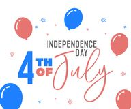 4th July, happy independence day in United States of America, USA. Festive Vector illustration design background. Eps10 Stock Photography