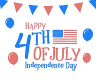 4th July, happy independence day in United States of America, USA. Festive Vector illustration design background. Eps10 Stock Photos