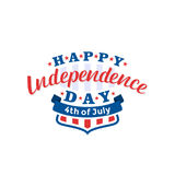 4th of July. Happy Independence Day vector. Fourth of July greeting design. Stock Images