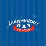 4th of July. Happy Independence Day vector. Fourth of July greeting design. Royalty Free Stock Images