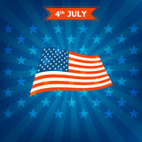 4th July Happy Memorial Day badges and labels Stock Photography