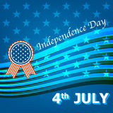 4th July Happy Memorial Day badges and labels Stock Images