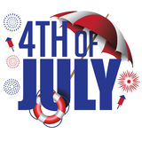 4th of July header. EPS 10 vector. Illustration royalty free illustration