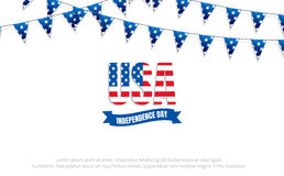 4th of July holiday banner. Fourth of July. USA Independence Day banner for sale, discount, advertisement, web etc.  Royalty Free Stock Photos