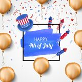 4th of July holiday banner. USA Independence Day banner. Vector. 4th of July holiday banner. USA Independence Day banner for sale, discount, advertisement Royalty Free Stock Image