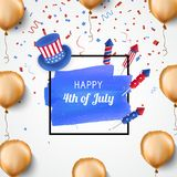 4th of July holiday banner. USA Independence Day banner. Vector. 4th of July holiday banner. USA Independence Day banner for sale, discount, advertisement vector illustration