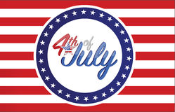 4th of July holiday flag sign concept illustration. Design graphic background Stock Photos