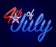 4th of July holiday sign concept illustration. Design graphic background Royalty Free Stock Photography