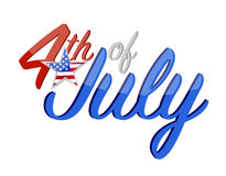 4th of July holiday sign concept illustration. Design graphic isolated over white Royalty Free Stock Image