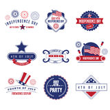 4th of July icon collection. EPS 10 vector stock illustration
