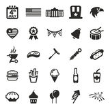 4th Of July Icons Stock Images