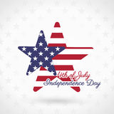 4th of July. Illustration, American Independence Day celebration Stock Image