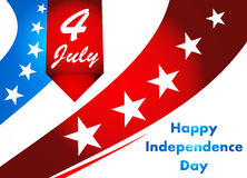 4th of July illustration, American Independence Day celebration. Stock Photos