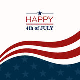 4th of July. Illustration of a 4th of July Independence Day Background Stock Photo