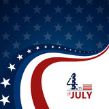 4th of July. Illustration of a 4th of July Independence Day Background Stock Image
