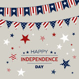 4th of July. Illustration of a 4th of July Independence Day Background Royalty Free Stock Image