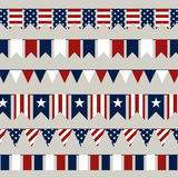 4th of July. Illustration of 4th of July Independence Day Buntings Stock Photo
