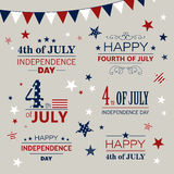 4th of July. Illustration of a 4th of July Independence Day Design Elements Royalty Free Stock Images