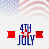 4th of July. Illustrator of a background for 4th of July Royalty Free Stock Photography