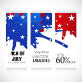 4th of July. Illustrator of a background for 4th of July Royalty Free Stock Photos