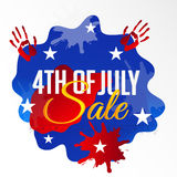 4th of July. Illustrator of a background for 4th of July Stock Photos